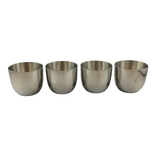 Williamsburg Shirley Pewter Jefferson Cups - Set of 4 For Sale