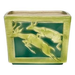 Mid Century Art Deco Ceramic Deer Vase For Sale