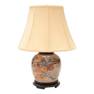 Antique Imari Table Lamp For Sale