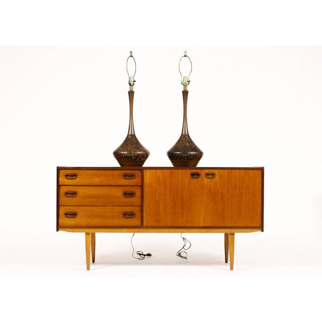 Danish Modern Mid Century Vintage Table Lamps- A Pair For Sale - Image 3 of 5