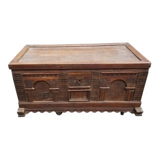 Late 18th Century Antique European Coffer Chest For Sale