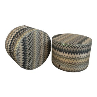 Missoni Home Ottomans - A Pair For Sale