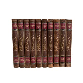 Leather Jack London Set in Swedish (S/9) For Sale