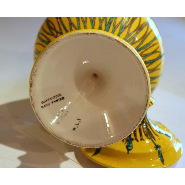 Vintage Italian Mancioli Pottery Yellow Covered Raymor Jar For Sale - Image 4 of 11