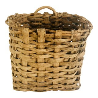 Vintage European Harvest Basket For Sale