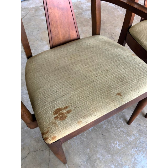 Mid Century Modern Kent Coffey Dining Chairs-Set of 6 For Sale In Boston - Image 6 of 10