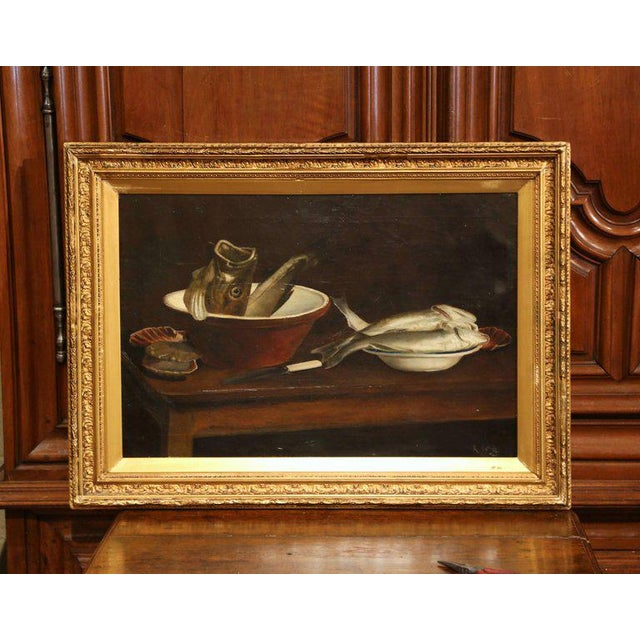 19th Century English Still Life Painting in Gilt Frame Signed and Dated 1847 For Sale In Dallas - Image 6 of 6