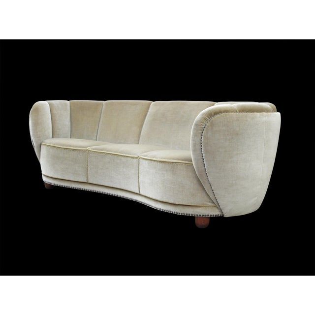 1930s 1930's Scandinavian Deco Mohair Sofa For Sale - Image 5 of 13