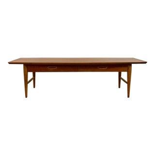 1960s Mid Century Modern Lane Walnut Coffee Table For Sale