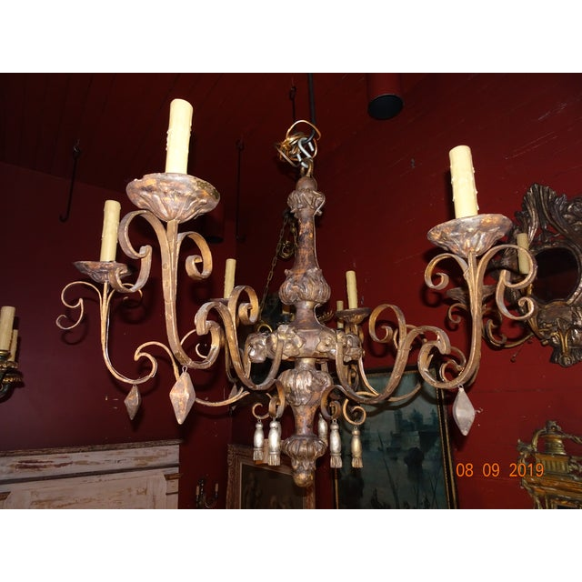 18th Century Italian Tassel Chandelier For Sale - Image 12 of 12