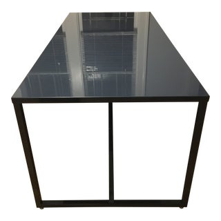 Blu Dot Large Navy Strut Table For Sale