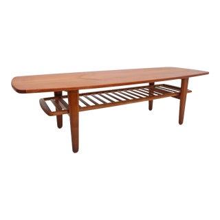 1950s Danish Modern Svend a Madsen Teak Coffee Table For Sale
