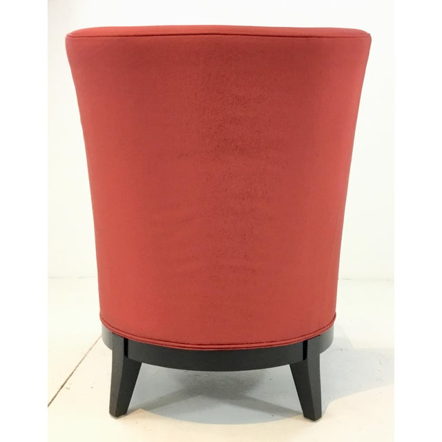 Drexel Heritage Modern Rachelle Red Satin Chairs Pair For Sale In Atlanta - Image 6 of 7