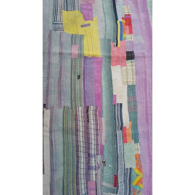 Bangladeshi Hand Sewn Vintage Quilt - Image 3 of 6
