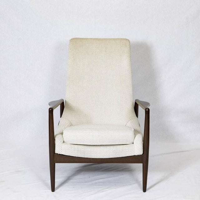 Textile Danish Lounge Chair For Sale - Image 7 of 9