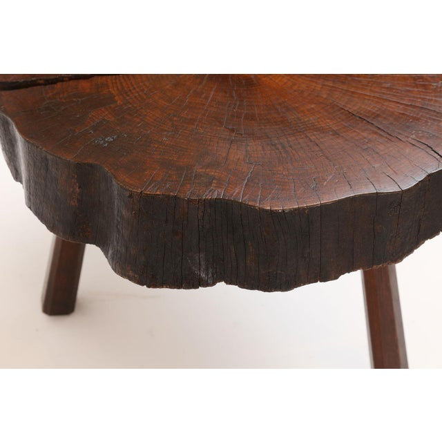 Vintage Tree Trunk Table For Sale In Houston - Image 6 of 13