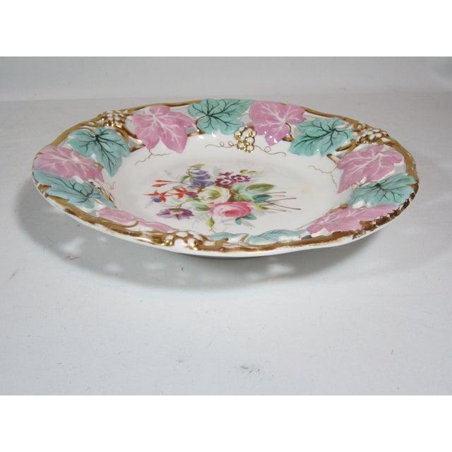 German Mauve & Turquoise Decorative Bowl For Sale - Image 4 of 5