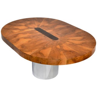 Paul Evans Burl Wood Cityscape Dining Table For Sale