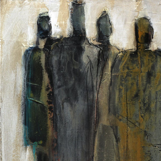 Swiss artist Edith Konrad paints figurative abstract compositions with mixed media on canvas. She layers her expression of...