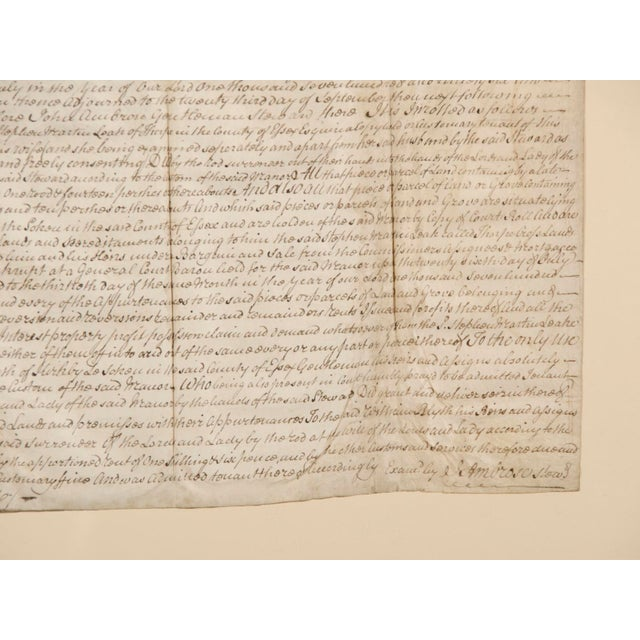 Contemporary Early 19th Century Ancient Indenture Document From England Enclosed in Original Frame For Sale - Image 3 of 3