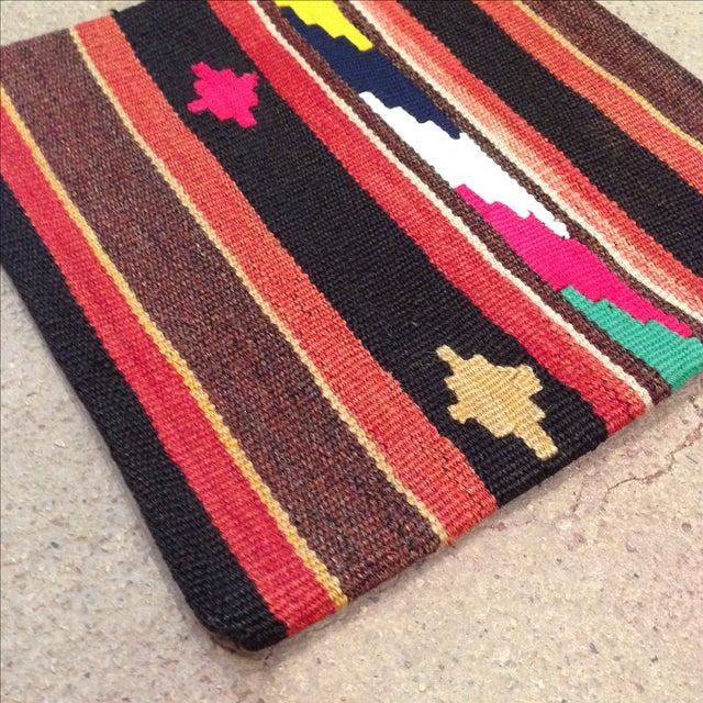Vintage Striped Turkish Kilim Pillow - Image 3 of 5