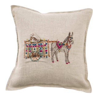Donkey Cart Pocket Pillow For Sale