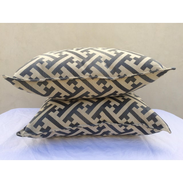 Modern Contemporary Graphic Pattern Pillows - a Pair - Image 5 of 7
