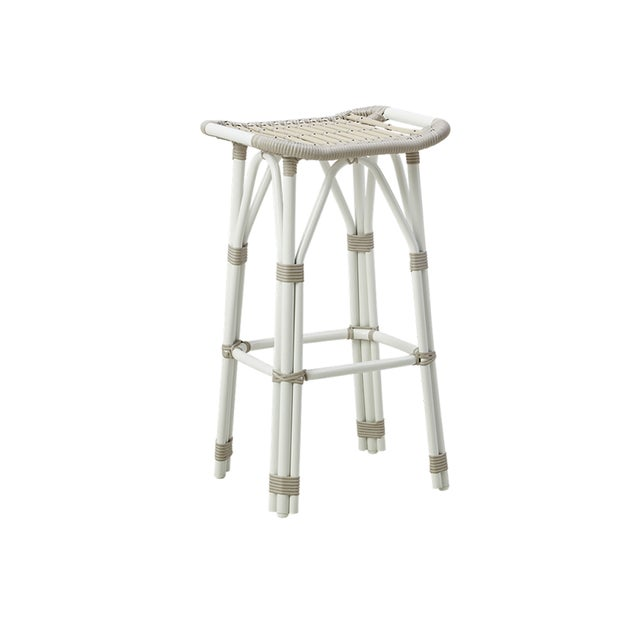 Not Yet Made - Made To Order Salsa Exterior Counter Stool - Dove White For Sale - Image 5 of 5