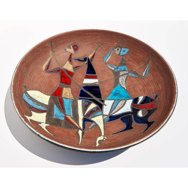 Brown Large Wall-Plaque / Charger by Marcello Fantoni For Sale - Image 8 of 8