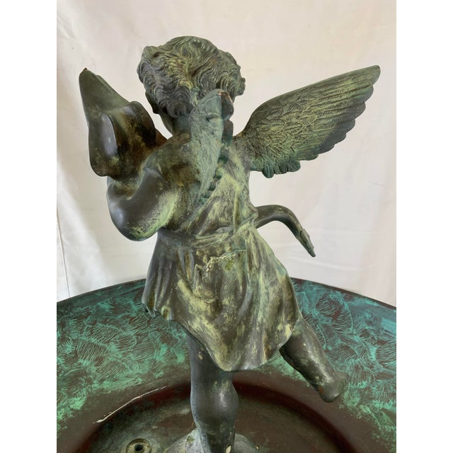 Bronze Ornate Indoor Fountain With Heavy Iron and Bronze Base For Sale - Image 8 of 12
