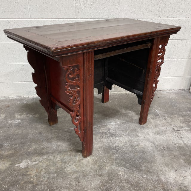 Chinese Vintage Chinese Alter Table Desk For Sale - Image 3 of 12