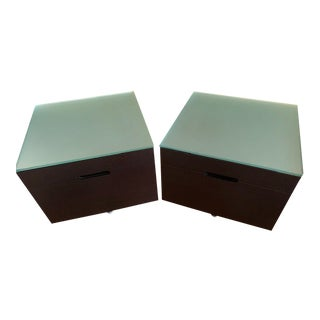 Molteni & C 909 Wenge Nightstands - A Pair For Sale