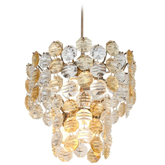 Glass Two-Toned Murano Glass Chandelier For Sale - Image 7 of 7