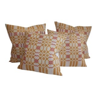 Collection of 19th Century Coverlet Pillows- 4 Pieces For Sale