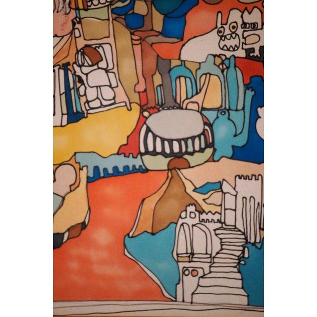 "E. Price Egan ""Brueger Vision"" Framed Pen and Ink Drawing For Sale - Image 4 of 13"