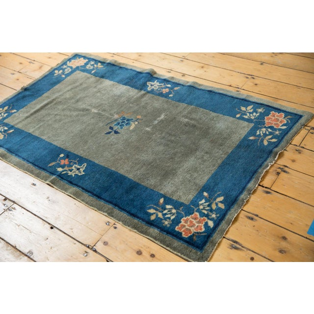"1910s Antique Peking Rug - 3'1"" X 4'9"" For Sale - Image 5 of 13"