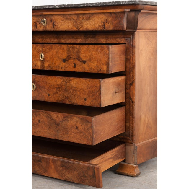 French 19th Century Louis Philippe Walnut Commode For Sale In Baton Rouge - Image 6 of 12