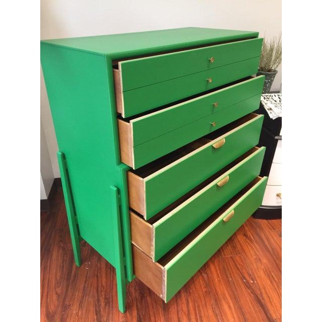 Green Mid-Century Modern Dresser For Sale - Image 5 of 9