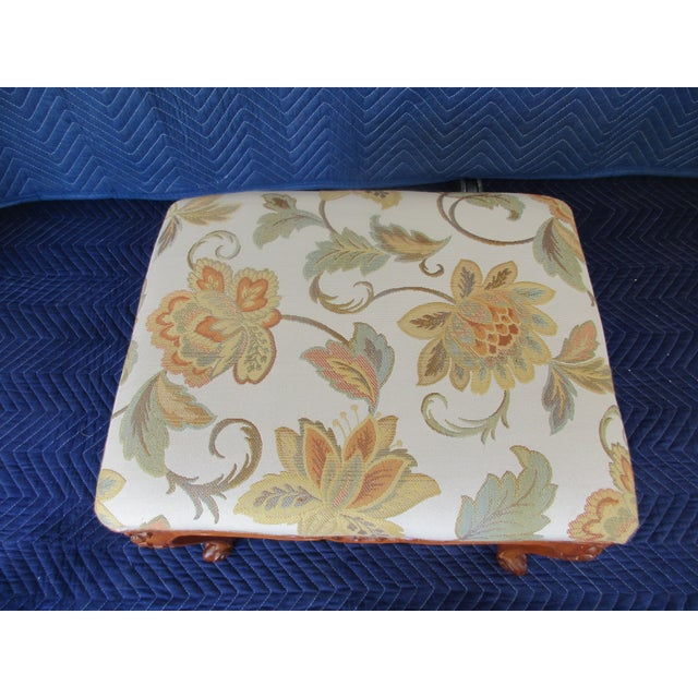 French Provincial Footstool For Sale - Image 9 of 12