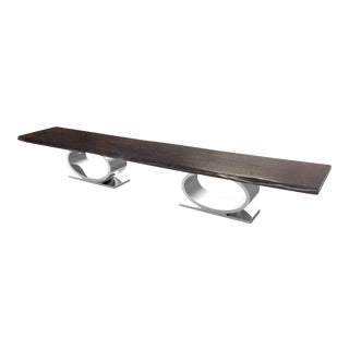 Infinity Live Edge Dining Table 5 For Sale