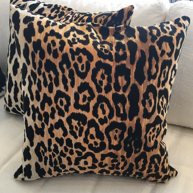 Leopard Print Pillows - A Pair - Image 4 of 6