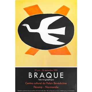 1990 French Georges Braque Exhibition Poster, l'Oeuvre Graphique For Sale