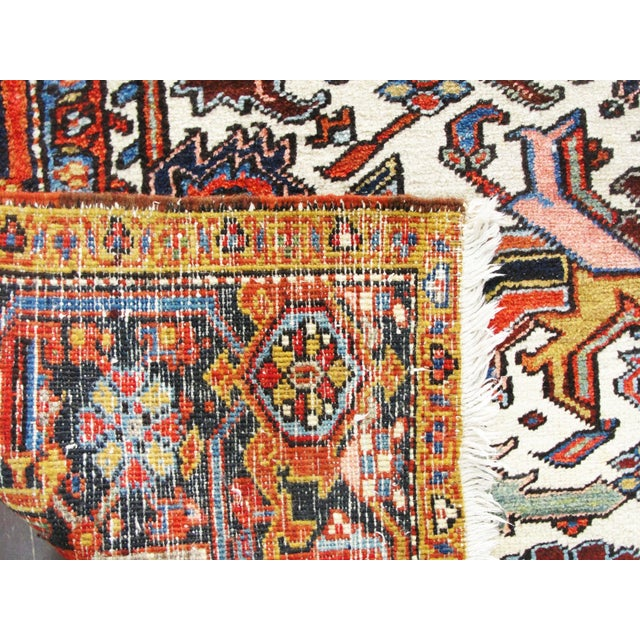 Antique Heriz Tree of Life Rug For Sale - Image 4 of 8