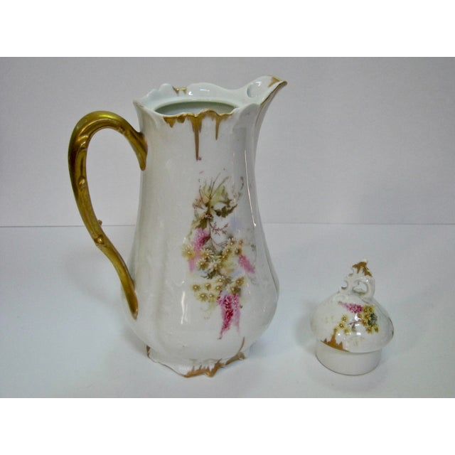 Antique German Hand Decorated Chocolate / Cocoa Pot For Sale In Providence - Image 6 of 8