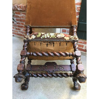 Late 19th Century Antique French Oak Louis XIV Barley Twist Arm Chair Preview