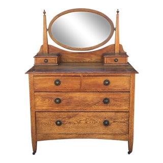 1940's Vintage Antique Dresser Vanity For Sale