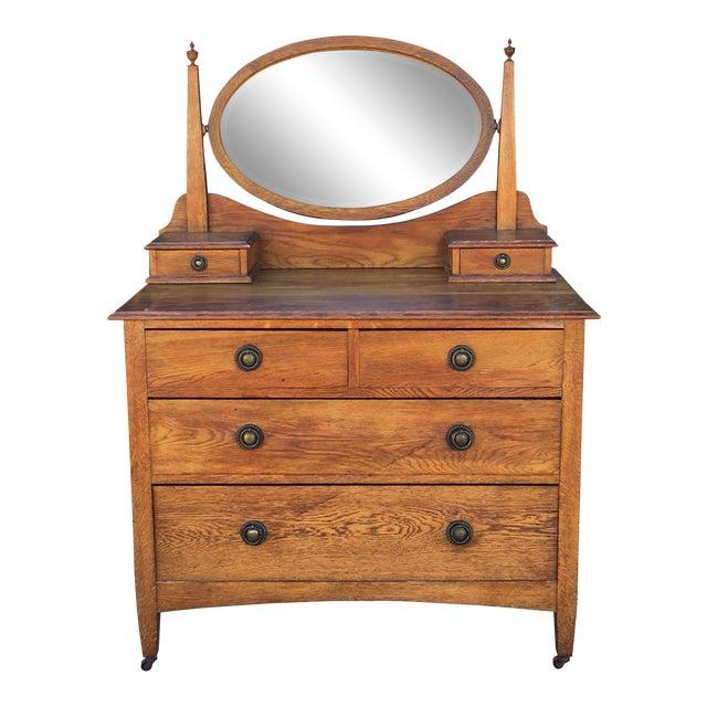 1940's Vintage Antique Dresser Vanity - 1940's Vintage Antique Dresser Vanity Chairish