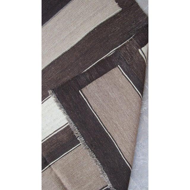 """Vintage Afghan Gebbeh Style Kilim Rug - 5' x 6'9"""" - Image 8 of 9"""