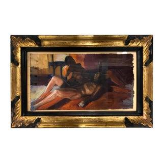 """1994 Ramon Lombarte Original Female Nude """"Descanso"""" For Sale"""