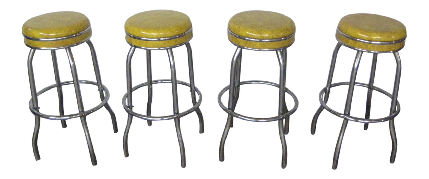 Vintage 1960s Bar Stools Set Of 4 Chairish